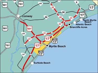 Myrtle Beach Sc Maps The Best Beaches In World