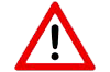 warning symbol with a black exclamation mark inside of a red triangle