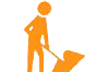 icon of a maintenance worker with a shovel