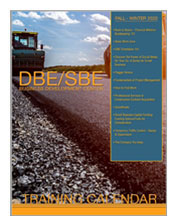 DBE/SBE Fall Winter training catalog cover