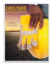 DBE/SBE Spring training catalog cover
