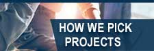 How we pick projects graphic
