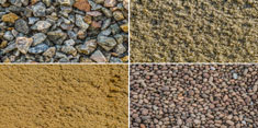 Photo of gravel and sand