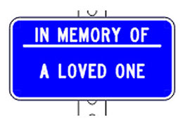 SCDOT's Roadside Memorial sign that says Drive Safetly
