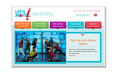 Photo of Lets Move Website