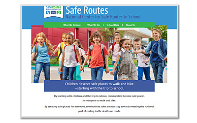photo of Safe Routes website